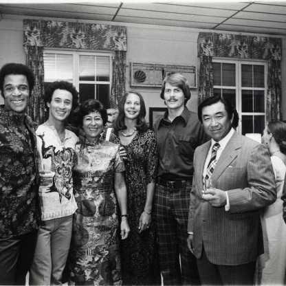 עם רקדני להקת מרתה גרהאם, סייגון 1975