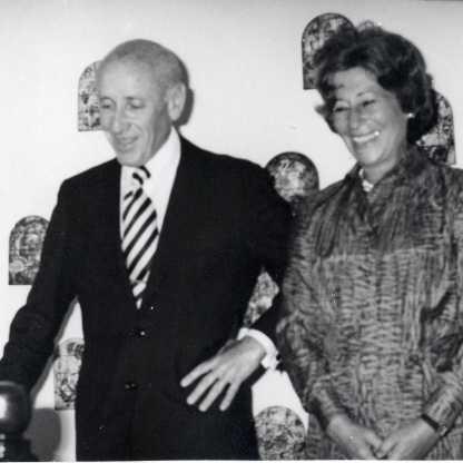 עם יאיר בקבלת פנים דיפלומטית, שנות השבעים
