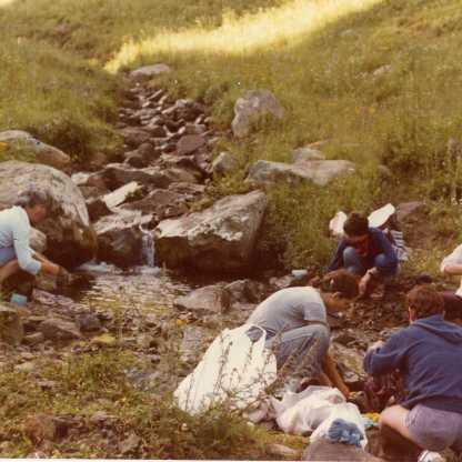 מדריכת החברה הגאוגרפית בטיול לקשמיר 1980