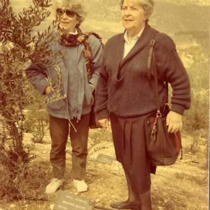 נטיעת עץ לכבוד קריסטינה חסידת אומוץ העולם, יד ושם 1986